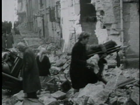 the aftermath of world war ii in germany. - world war ii stock-videos und b-roll-filmmaterial