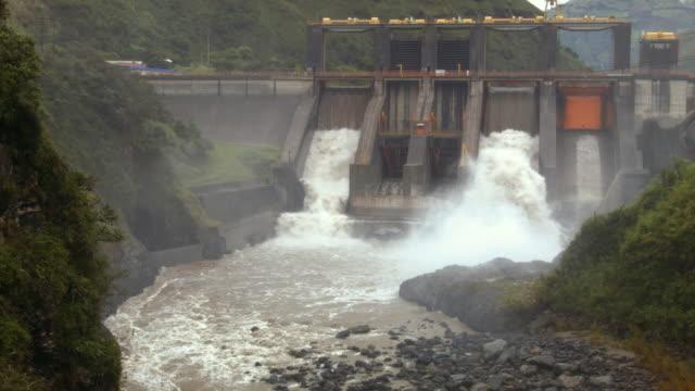 The Agoyan Hydroelectric Dam on the Pastaza river near Banos, Ecuador