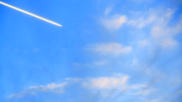 The airplane moving to destination.