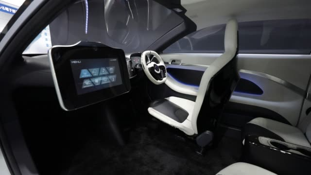 The AKXY concept vehicle jointly developed by Asahi Kasei Corp and GLM Co stands on display at the Automotive World 2018 forum in Tokyo Japan on...