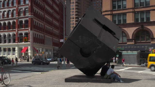 the alamo sculpture in union square - cube stock videos & royalty-free footage