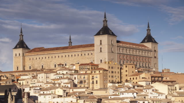 the alcazar of toledo, spain. - philip ii of spain stock videos and b-roll footage