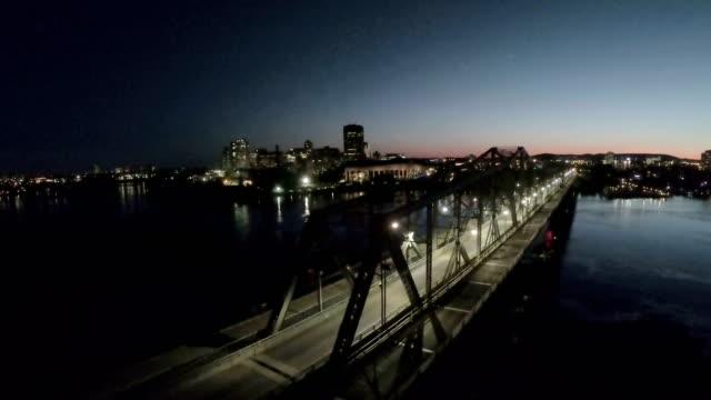 the alexandra bridge - gatineau stock videos & royalty-free footage