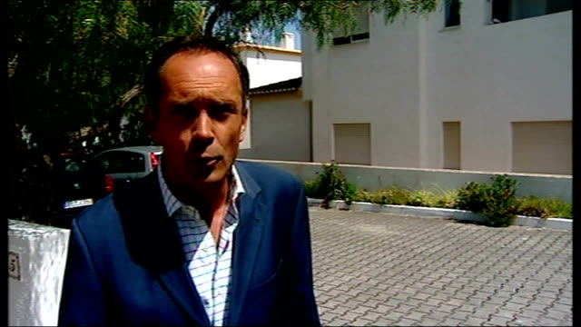 The Algarve Praia da Luz EXT Reporter to camera Portimao Oliveira Trinidade interview SOT