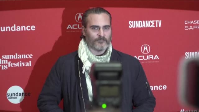 The Alist cast of US director Gus Van Sant's latest feature Don't Worry He Won't Get Far on Foot including Joaquin Phoenix attends the Sundance Film...