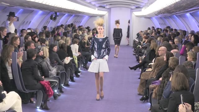The amazing runway of the 2012 Chanel haute couture fashion show in the Grand Palais in Paris Chanel runway haute couture Paris 2012 on January 24...