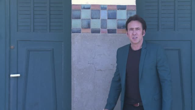the american film festival in deauville paid homage to american actor nicolas cage on monday as he presented his latest fim joe a western by director... - nicolas cage stock videos & royalty-free footage