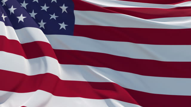 the american flag fluttering in the wind - stars and stripes stock videos & royalty-free footage