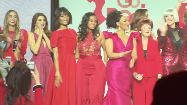the american heart association's go red for women red dress collection 2018 presented by macy's at hammerstein ballroom on february 08, 2018 in new... - ginger zee stock videos & royalty-free footage