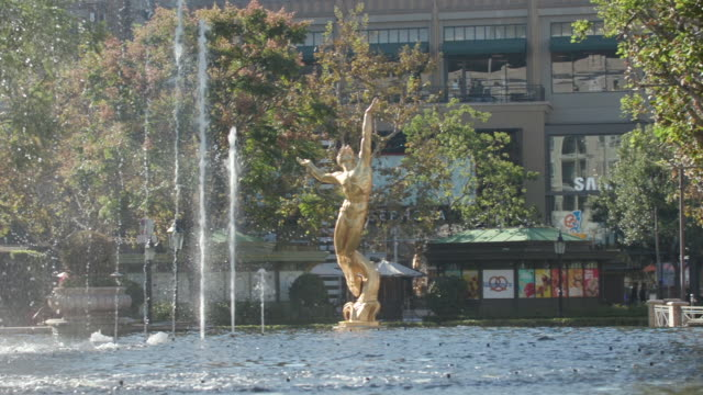 the americana at brand fountain in los angeles ca - glendale california stock videos & royalty-free footage