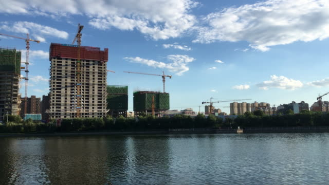 the amount of real estate transactions in july in the first and second tiered chinese cities have fallen down, and in august the supply and the... - grounds stock videos & royalty-free footage