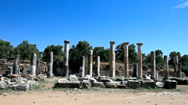 hd: the ancient city 'nysa (caria)'  south agora - aydın province stock videos and b-roll footage
