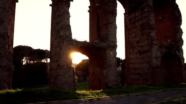 The Ancient Roman Aqueduct Water Pipe