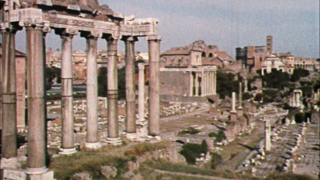 The ancient Roman Forum draws tourists to its famous ruins.