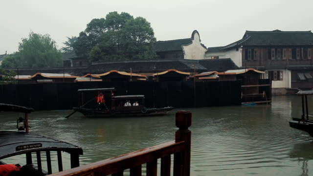 the ancient town of wuzhen - zhejiang province stock videos & royalty-free footage