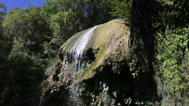 the angel waterfall in soroa, cuba - eco tourism stock videos & royalty-free footage