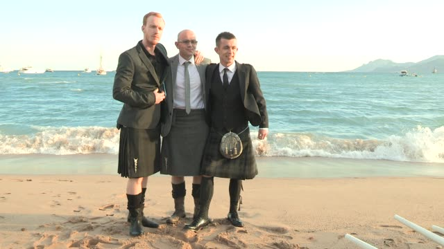 the angels' share - reception in kilts - 65th annual cannes film festival atmosphere - the angels' share - reception in kilt at long beach on may 22,... - kilt stock videos & royalty-free footage