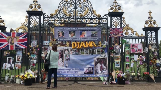 vidéos et rushes de the anniversary of the death of diana, princess of wales has been marked by fans at kensington palace. almost 22 years have passed since diana's... - mort description physique