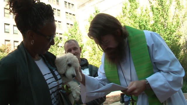 "WGN The annual ""Blessing of the Animals"" was held on Oct 1 in Chicago's South Loop neighborhood to celebrate the Feast Day of St Francis of Assisi..."