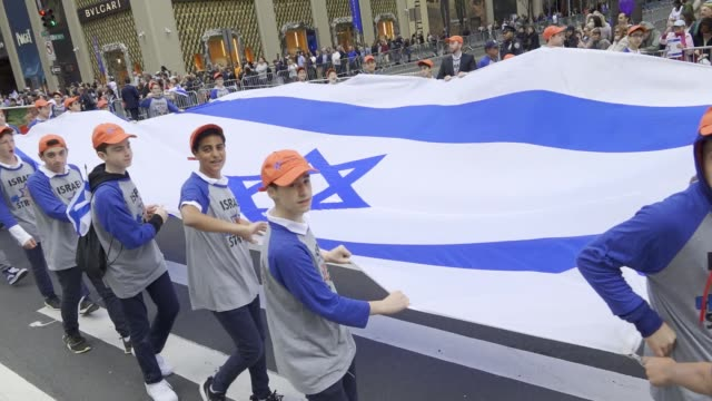The annual Celebrate Israel Parade on Manhattan's 5th Avenue in New York City celebrates the 70th Anniversary of the Founding of the State of Israel...