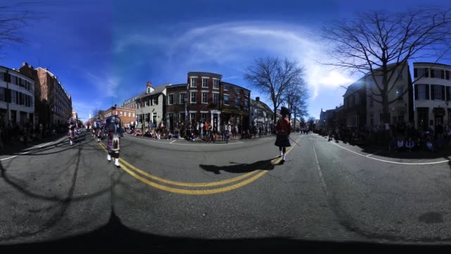 the annual george washington birthday parade february 20 2017 in old town alexandria virginia the nation celebrates president's day to mark the... - presidents day stock videos and b-roll footage