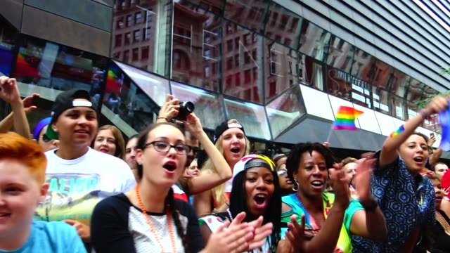 the annual new york city gay pride parade / the parade celebrates the supreme court decision to legalized samesex marriage across the united states /... - 2010年代点の映像素材/bロール