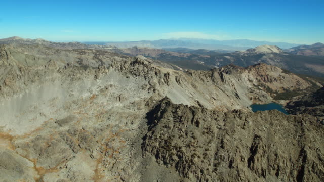 the ansel adams wilderness area in the  sierra nevadas with mammoth mountain visible in the distance. - wilderness area stock videos & royalty-free footage