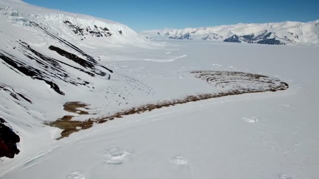 the antarctic - cape hallett - soil stock videos & royalty-free footage