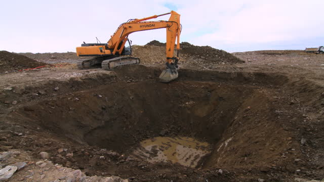 the antarctic - excavator digging in ground - construction vehicle stock videos & royalty-free footage