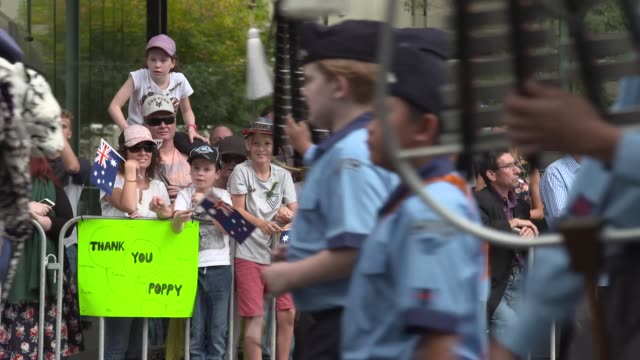 the anzac day parade on april 25 2017 in sydney australia australians commemorating 101 years since the australian and new zealand army corp landed... - anzac day stock videos & royalty-free footage