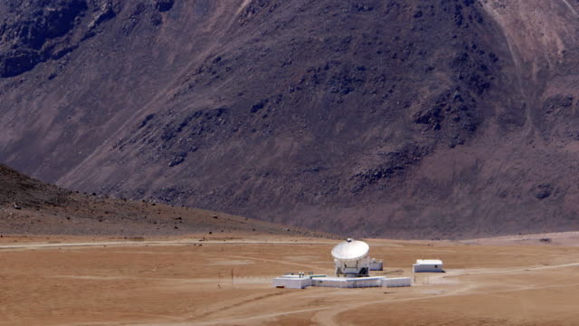 ms the apex antenna at chajnantor / san pedro de atacama, chile - space and astronomy stock videos & royalty-free footage