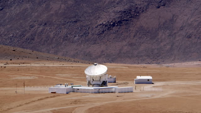 ls the apex antenna at chajnantor / san pedro de atacama, chile - space and astronomy stock videos & royalty-free footage
