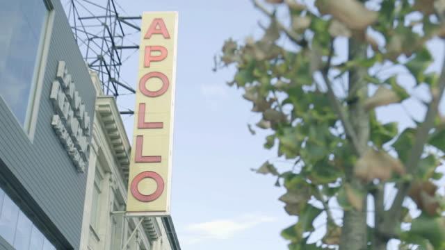 the apollo - establishing shot - harlem stock videos & royalty-free footage
