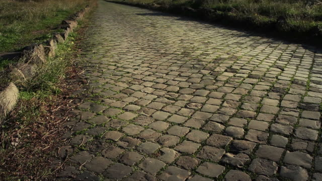 the appian way in rome, or via appia antica - cobblestone stock videos & royalty-free footage