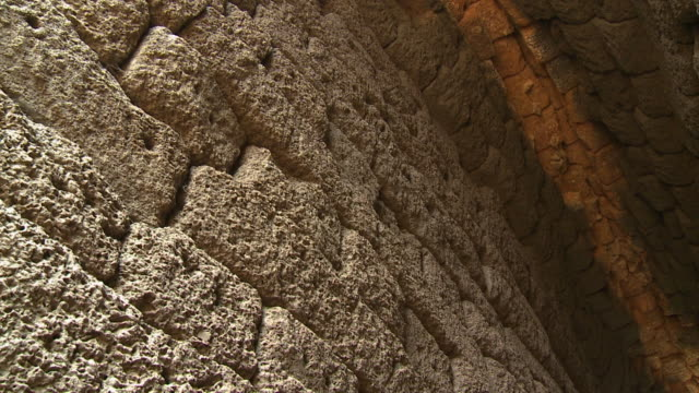 the arch ceiling below the spean praptos, cambodia - ancient stock videos & royalty-free footage