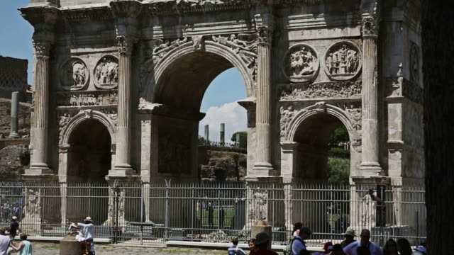 the arch of constantine in rome - arch of constantine stock videos and b-roll footage