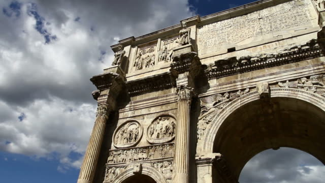 the arch of constantine or arco di costantino - arch of constantine stock videos and b-roll footage