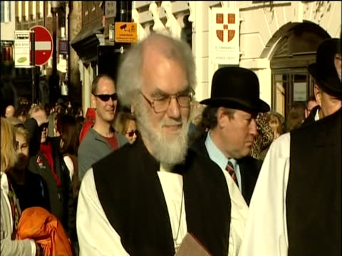 the archbishop of canterbury, dr rowan williams. - archbishop of canterbury stock videos & royalty-free footage