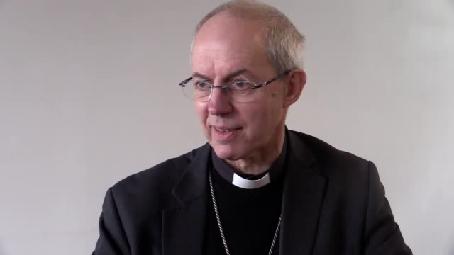 the archbishop of canterbury justin welby speaks about the archbishop of canterbury's commission on housing, church and community. he was talking... - archbishop of canterbury stock videos & royalty-free footage