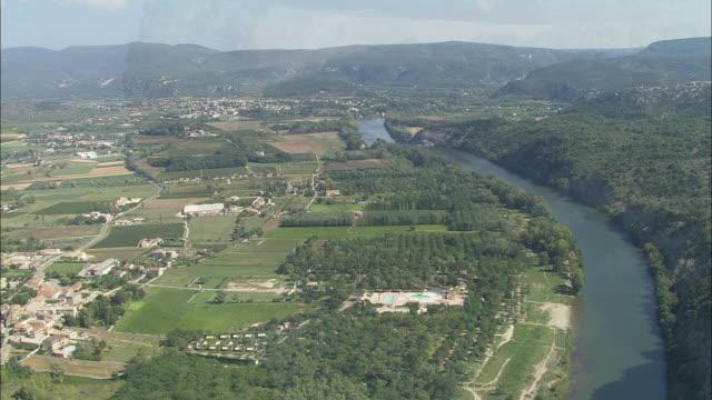 The Ardeche River Near Vallon-Pont-D'Arc
