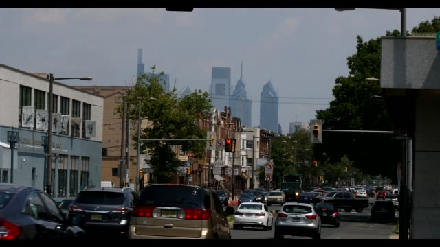 stockvideo's en b-roll-footage met the area around oregon avenue and broad street among general views of philadelphia pennsylvania on july 06 as major cities in the us continue to... - oregon amerikaanse staat