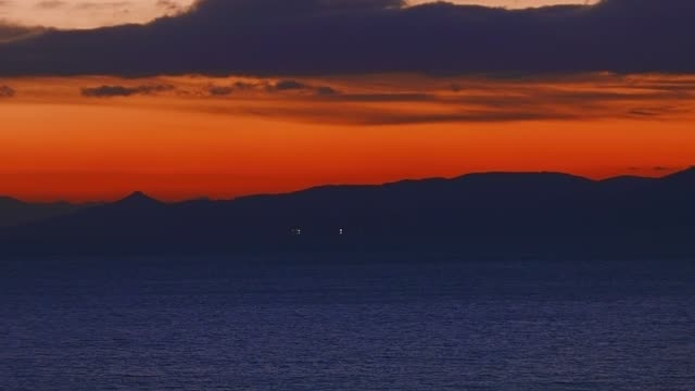 The Argosaronikos gulf in Athens, Greece and the Pireas port at sunset