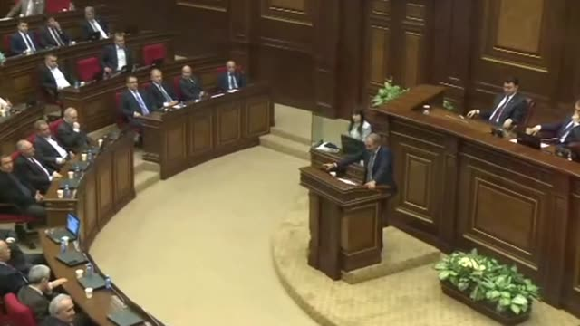 the armenian parliament is due to elect a new prime minister with opposition leader nikol pashinyan set to take the post after spearheading weeks of... - prime minister video stock e b–roll