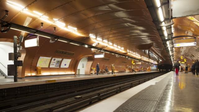 The Arts et Metiers metro station in Paris, France.