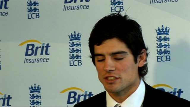 Fifth Test day three R12021006 London Lord's INT Alastair Cook press conference SOT to lead my country is huge honour / will be tough challenge but...