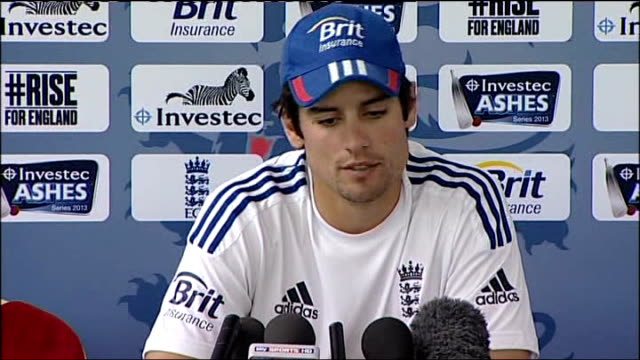 Alistair Cook press conference ahead of Fourth Test Alistair Cook press conference SOT