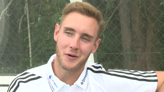 5th test preparations stuart broad interview sot broad and quinn at hockey training maddie hinch interview sot broad and finn at hockey training... - international match stock videos & royalty-free footage
