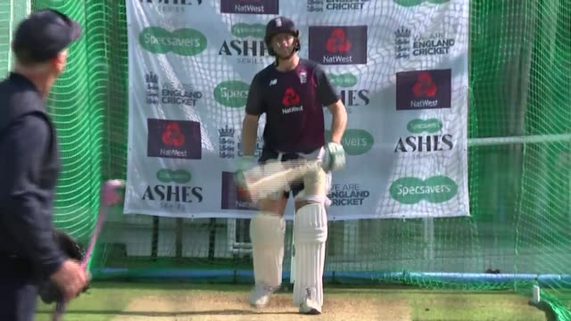 england team training gvs england london lord's cricket ground ext various shots of england cricket team practising in nets including ben stokes... - practising stock videos & royalty-free footage