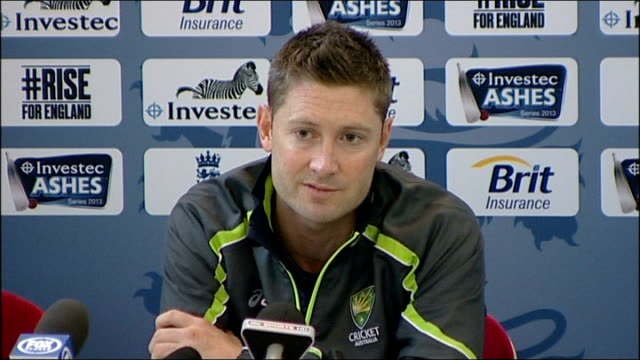 Fourth Test England win to take Ashes series INT Michael Clarke press conference SOT