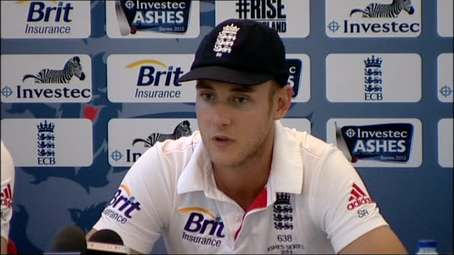 Fourth Test England win to take Ashes series INT Stuart Broad press conference SOT